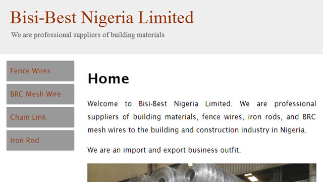 Bisibest Nigeria Limited responsive website desiged by Caseray Solutions Limited