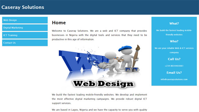 Caseray Solutions mobile friendly responsive website desiged by Caseray Solutions Limited
