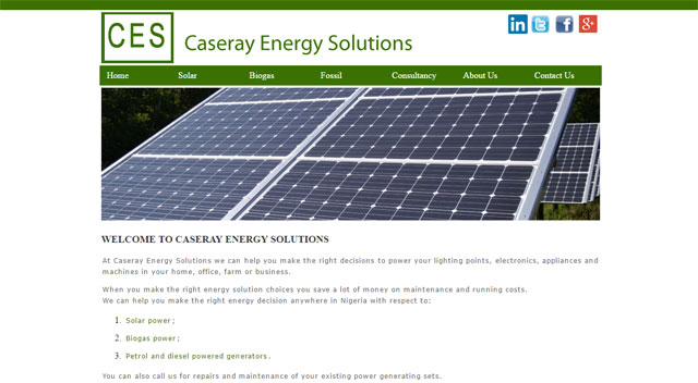 Caseray Energy Solutions website screenshot