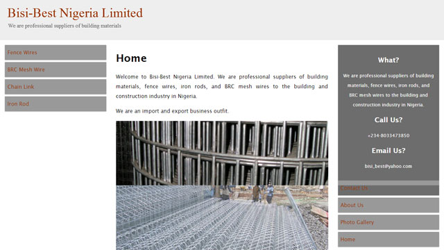 Bisi-Best Nigeria Limited website screenshot