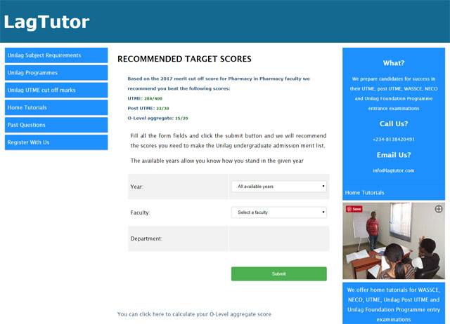 LagTutor.com website screenshot