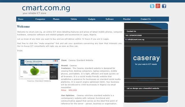 Cmart.com.ng website screenshot